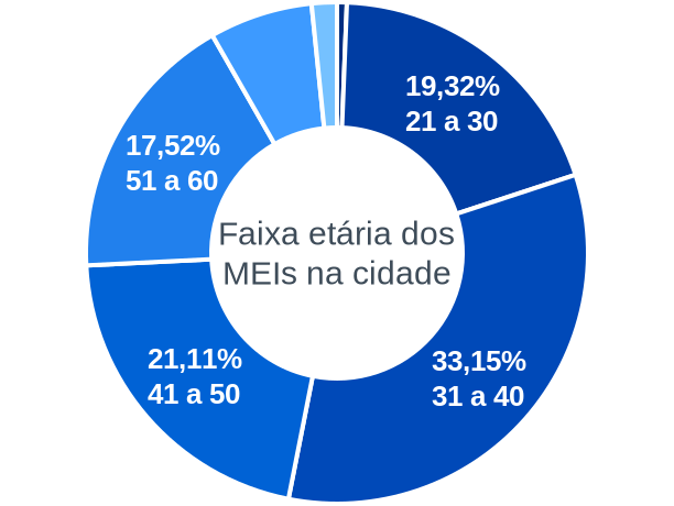Faixa etária de MEIs na cidade de São Joaquim