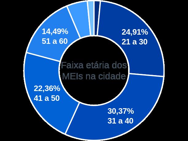 Faixa etária de MEIs na cidade de São Lourenço do Oeste