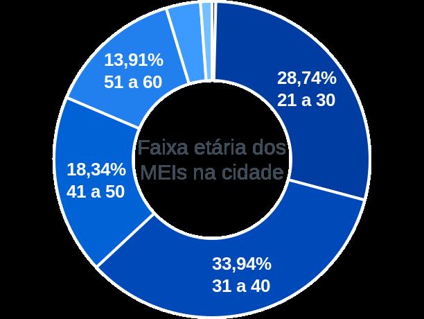 Faixa etária de MEIs na cidade de São Ludgero