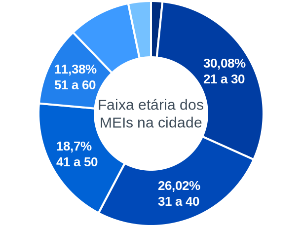Faixa etária de MEIs na cidade de Sul Brasil