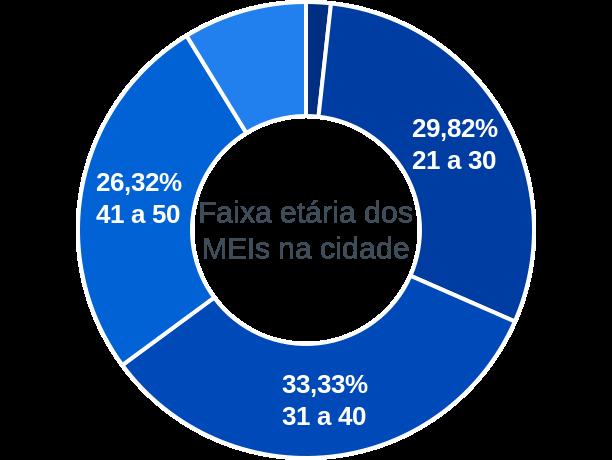 Faixa etária de MEIs na cidade de Gracho Cardoso