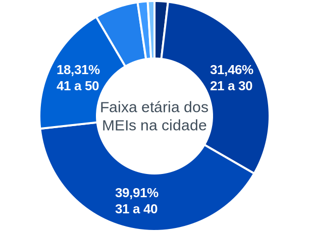 Faixa etária de MEIs na cidade de Porto da Folha