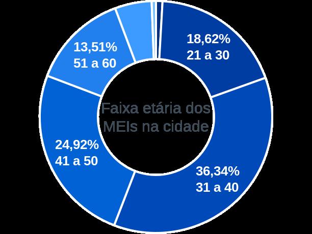 Faixa etária de MEIs na cidade de Rosário do Catete