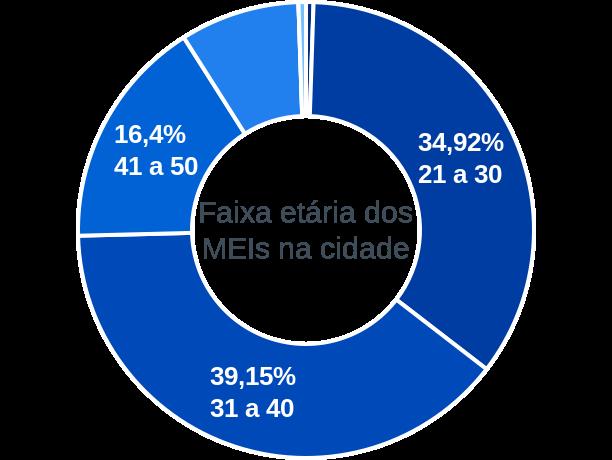 Faixa etária de MEIs na cidade de São Domingos