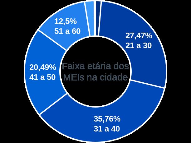 Faixa etária de MEIs na cidade de Simão Dias
