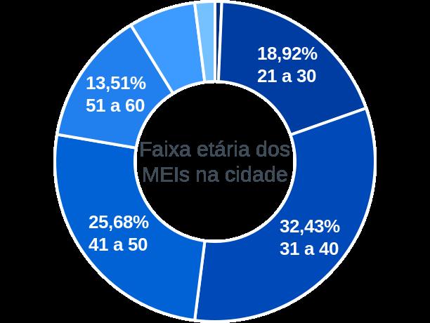 Faixa etária de MEIs na cidade de Alto Alegre