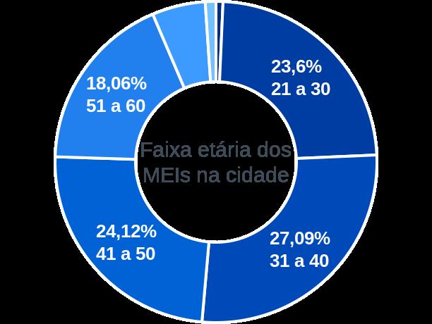 Faixa etária de MEIs na cidade de Américo Brasiliense