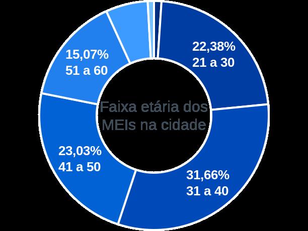 Faixa etária de MEIs na cidade de Artur Nogueira