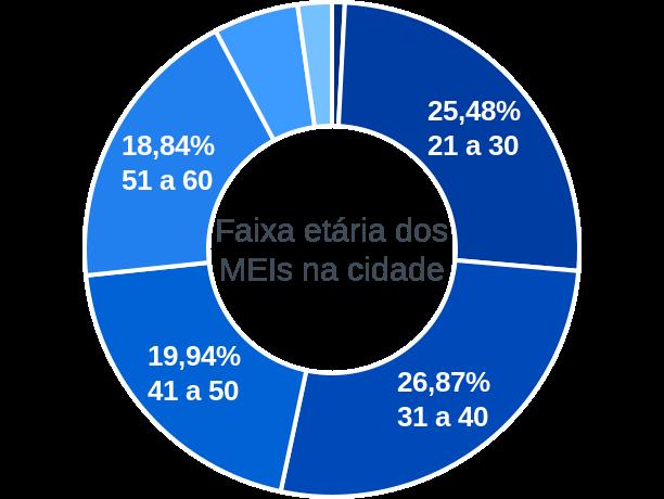 Faixa etária de MEIs na cidade de Barbosa