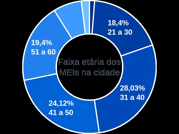 Faixa etária de MEIs na cidade de Barra Bonita