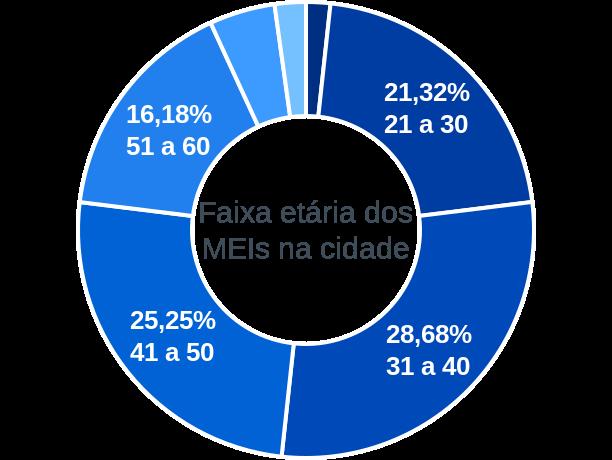Faixa etária de MEIs na cidade de Barra do Turvo
