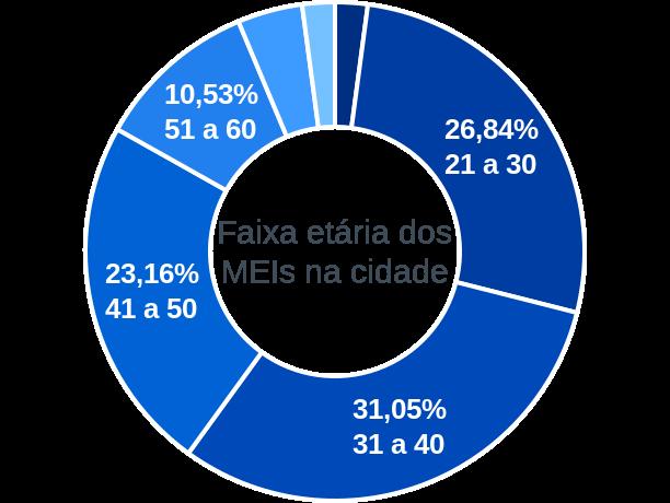 Faixa etária de MEIs na cidade de Bom Sucesso de Itararé