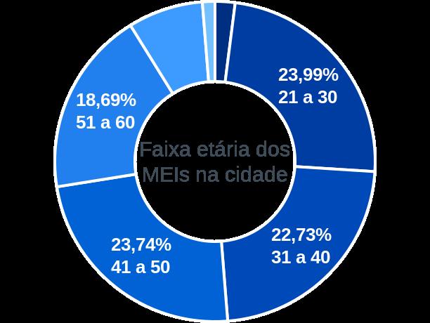 Faixa etária de MEIs na cidade de Cabrália Paulista