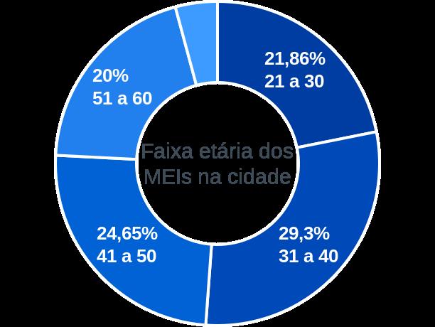 Faixa etária de MEIs na cidade de Campos Novos Paulista