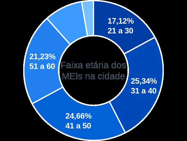 Faixa etária de MEIs na cidade de Gastão Vidigal