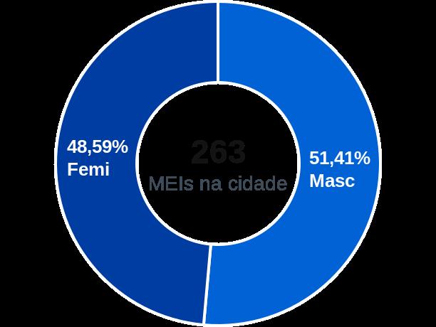 Gênero de MEIs na cidade de Inúbia Paulista