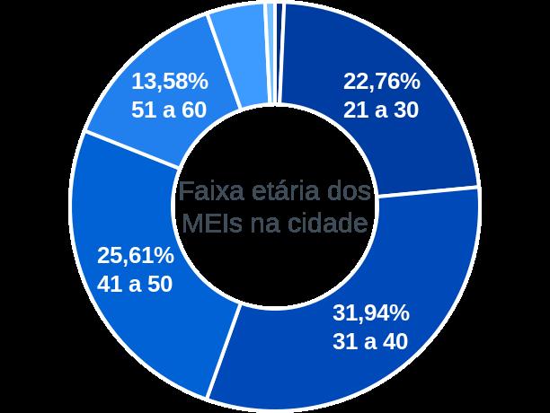 Faixa etária de MEIs na cidade de Itapecerica da Serra