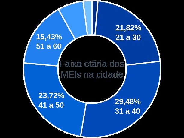 Faixa etária de MEIs na cidade de Laranjal Paulista