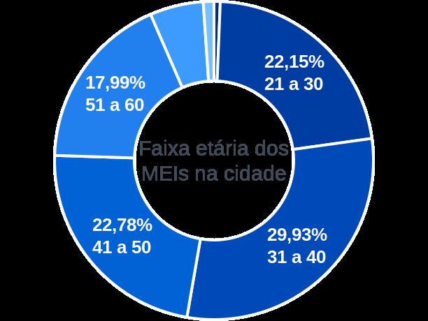 Faixa etária de MEIs na cidade de Monte Azul Paulista