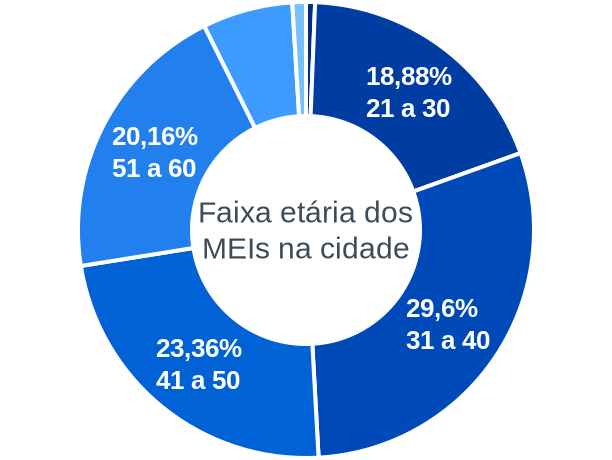 Faixa etária de MEIs na cidade de Neves Paulista