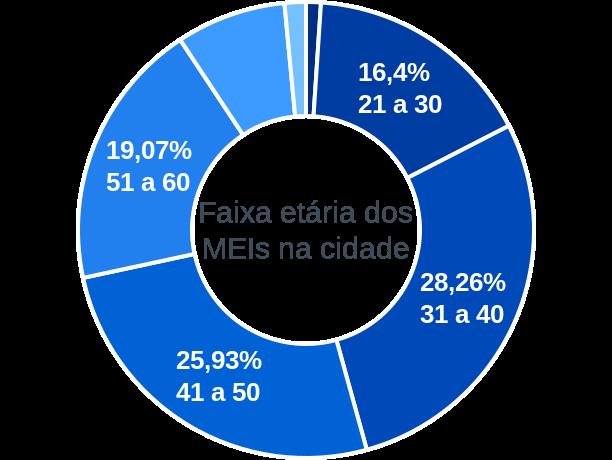 Faixa etária de MEIs na cidade de Patrocínio Paulista
