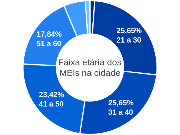Faixa etária de MEIs na cidade de Planalto
