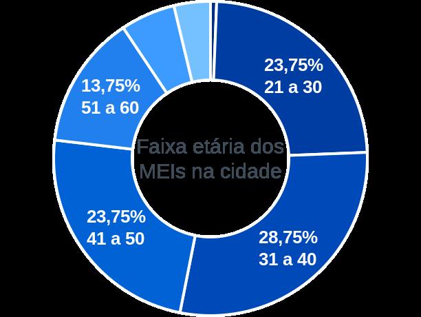 Faixa etária de MEIs na cidade de Queiroz