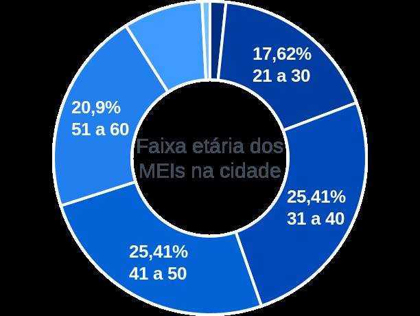Faixa etária de MEIs na cidade de Redenção da Serra