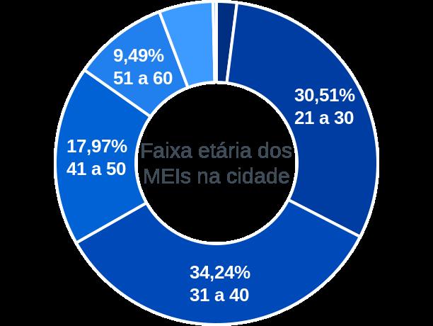 Faixa etária de MEIs na cidade de Ribeirão Corrente