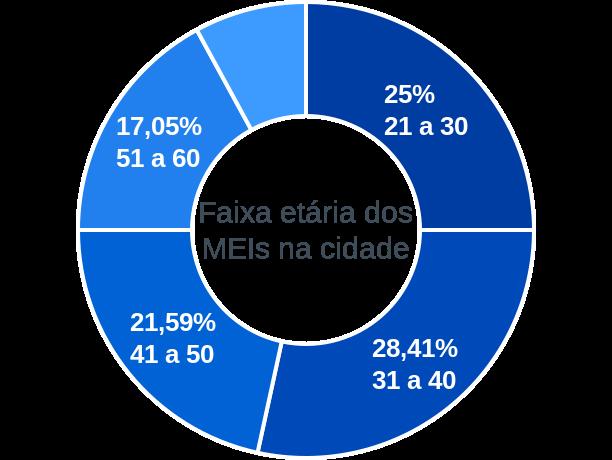 Faixa etária de MEIs na cidade de Ribeirão dos Índios