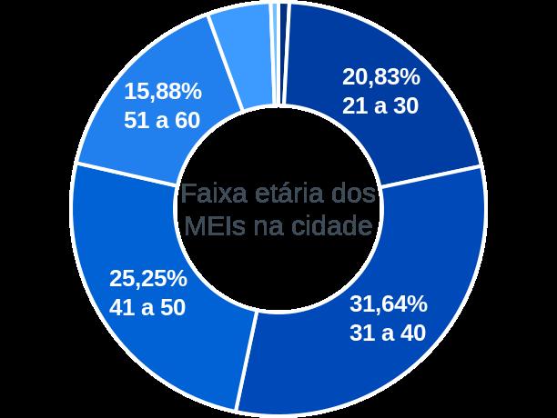 Faixa etária de MEIs na cidade de Rio Grande da Serra