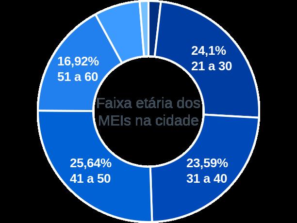 Faixa etária de MEIs na cidade de Riolândia