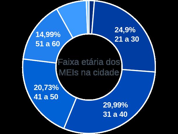 Faixa etária de MEIs na cidade de Sales Oliveira