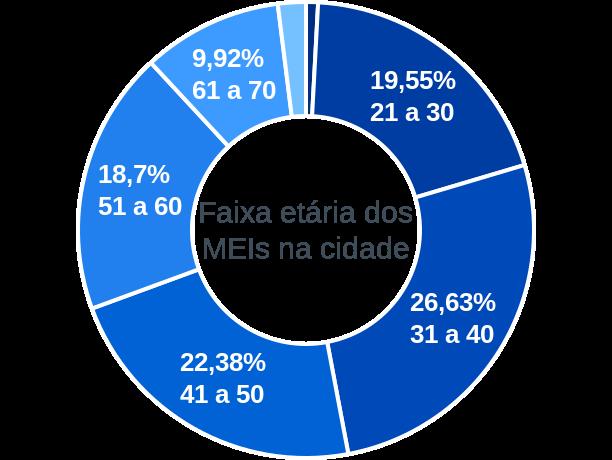 Faixa etária de MEIs na cidade de Santa Maria da Serra