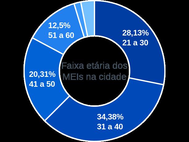 Faixa etária de MEIs na cidade de Santana da Ponte Pensa