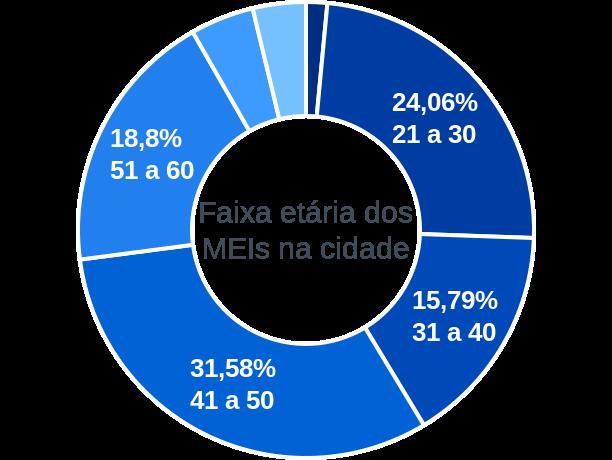 Faixa etária de MEIs na cidade de São João das Duas Pontes