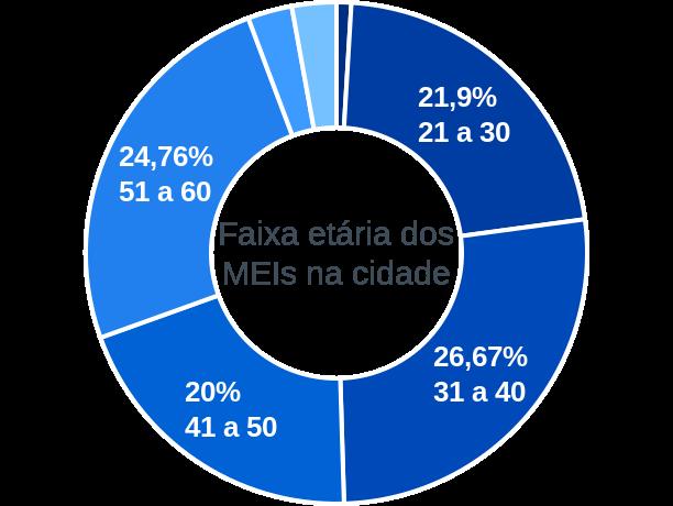Faixa etária de MEIs na cidade de São João de Iracema