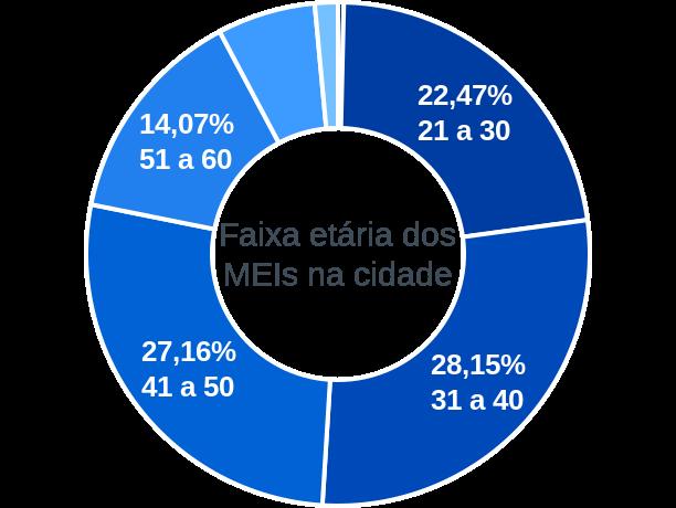 Faixa etária de MEIs na cidade de São Lourenço da Serra