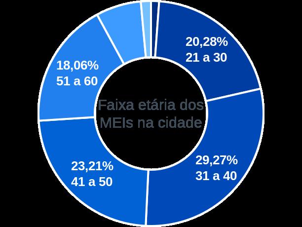 Faixa etária de MEIs na cidade de São Manuel