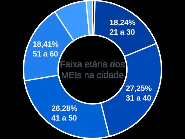 Faixa etária de MEIs na cidade de São Pedro