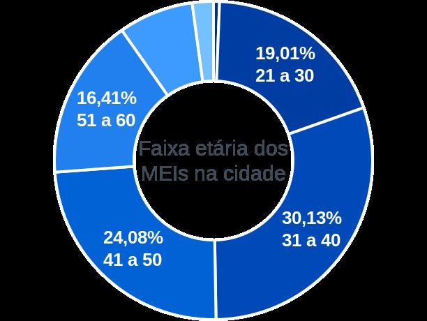 Faixa etária de MEIs na cidade de São Roque