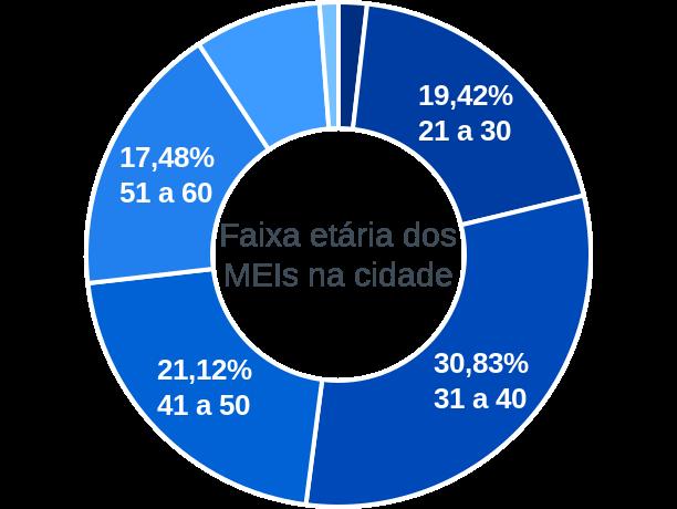 Faixa etária de MEIs na cidade de São Simão