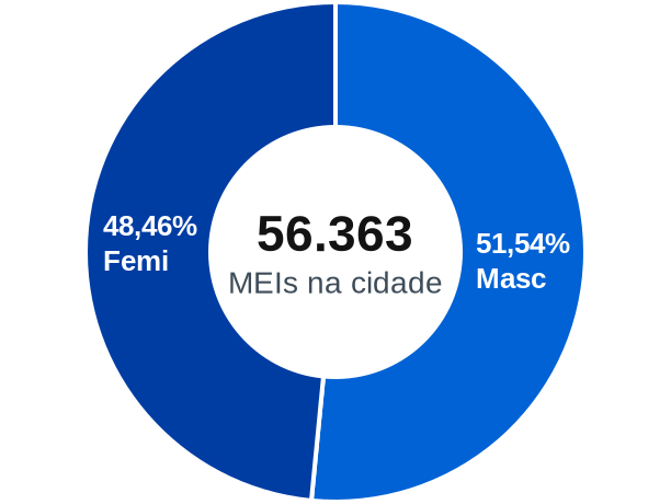 Gênero de MEIs na cidade de Sorocaba