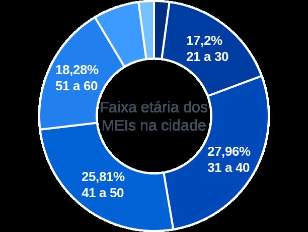 Faixa etária de MEIs na cidade de Vitória Brasil