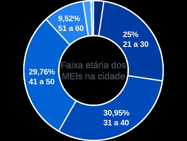 Faixa etária de MEIs na cidade de Bernardo Sayão