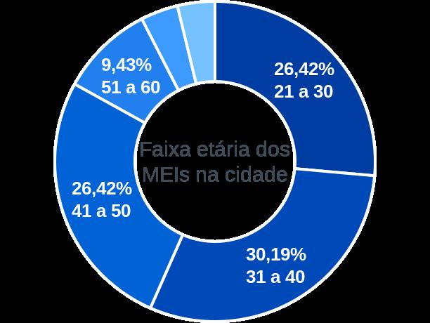 Faixa etária de MEIs na cidade de Brasilândia do Tocantins