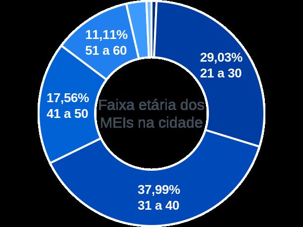 Faixa etária de MEIs na cidade de Esperantina