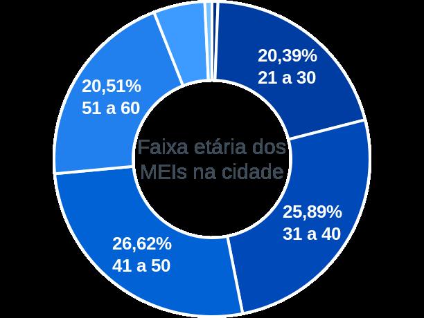 Faixa etária de MEIs na cidade de Formoso do Araguaia