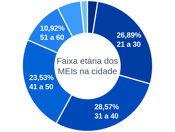 Faixa etária de MEIs na cidade de Palmeiras do Tocantins