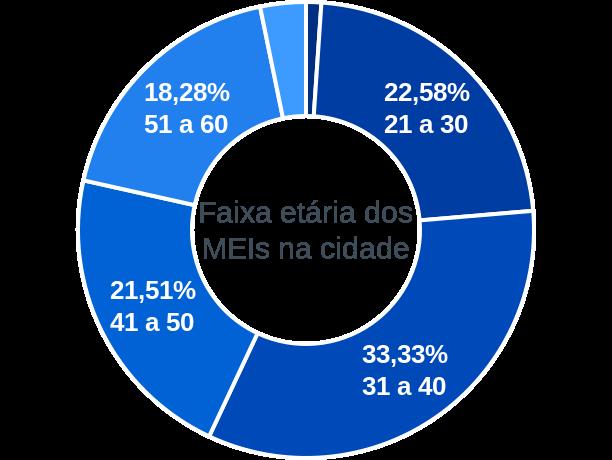 Faixa etária de MEIs na cidade de Porto Alegre do Tocantins